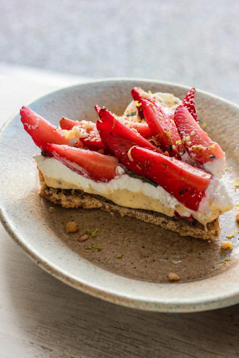 Tarte aux fraises.