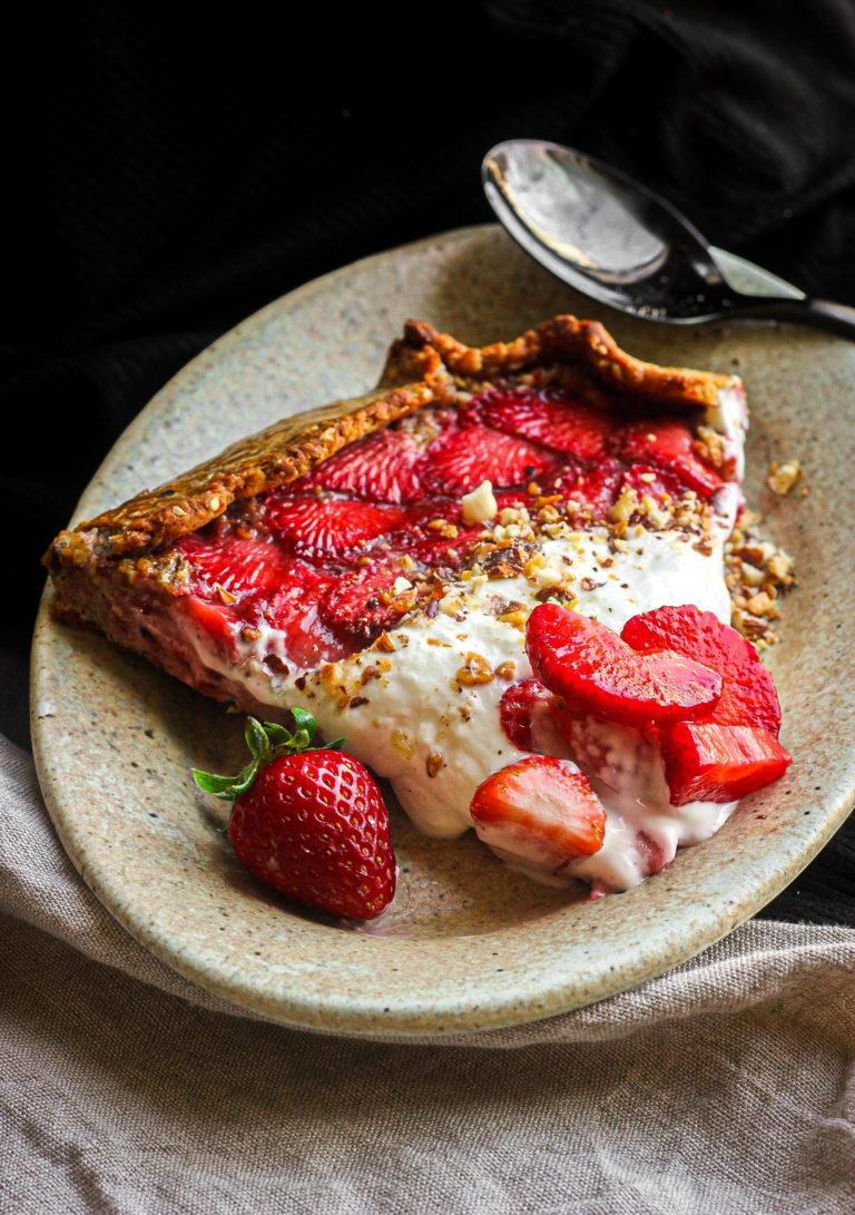 rustique fraise, sésame