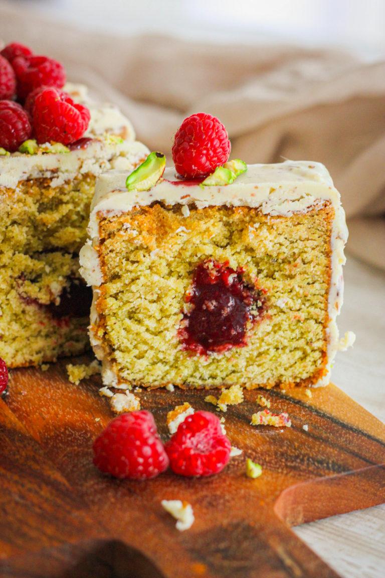 cake pistache, framboise.