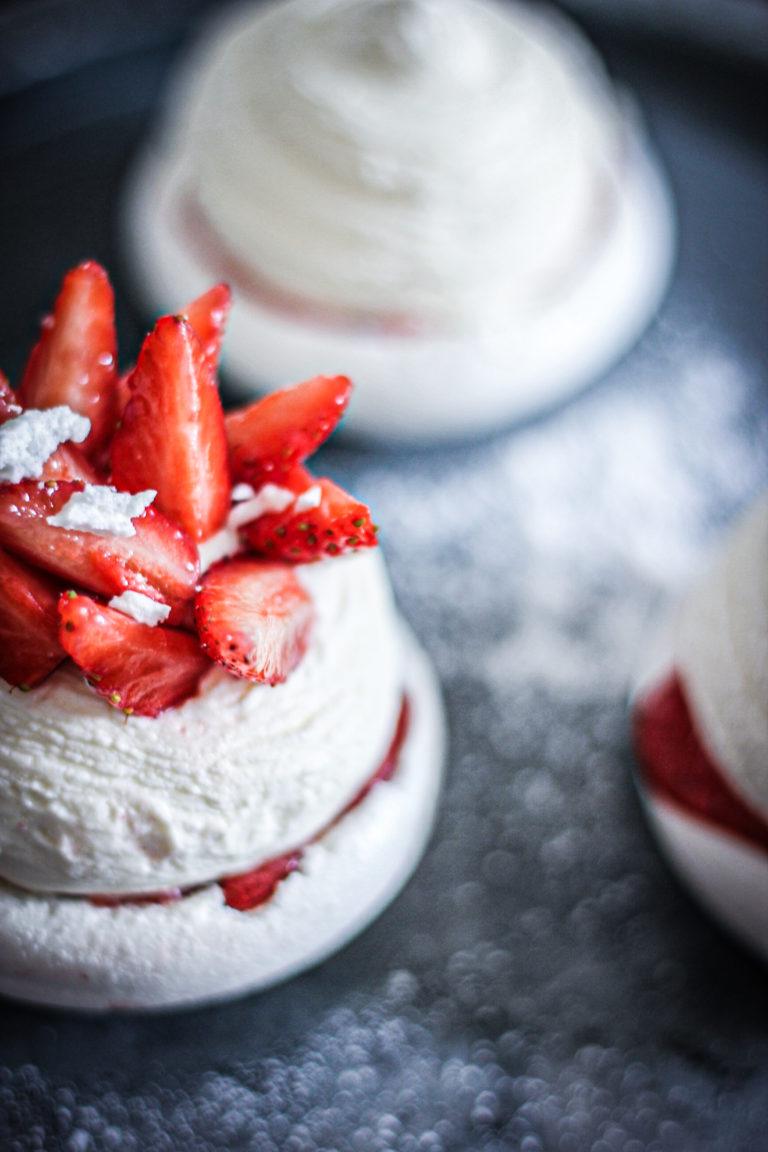 pavlova fraise, menthe.